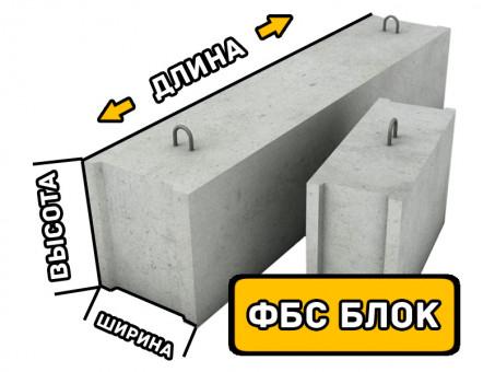 Фундаментный блок ФБС 12.6.6т, размеры (Д*Ш*В): 1180*600*580 мм