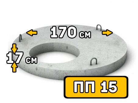 Плиты перекрытия колодца ПП 15, диаметр 1700 мм (внутренний диаметр 700 мм)